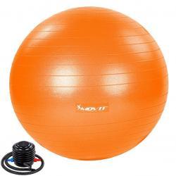 MOVIT Gymnastický míč s nožní pumpou, 65 cm, oranžový
