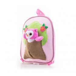 G21 batoh s plyšovou sovičkou, růžový