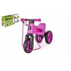 Odrážedlo FUNNY WHEELS Rider SuperSport fialové 2v1+popruh,