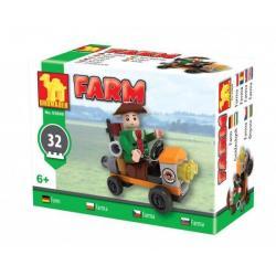 Stavebnice Dromader Traktor farma 32ks v krabici 9x7x5cm
