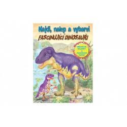 Pracovní sešit Najdi, nalep a vybarvi Úžasní dinosauři CZ verze 21x28cm