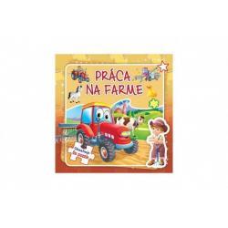 Puzzle kniha Práca na farme 17x17cm 6x9 dielikov SK verze