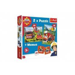 Puzzle 2v1 + pexeso Požárník Sam 27,5x20,5cm