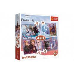 Puzzle 4v1 Ledové království II/Frozen II