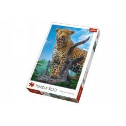 Puzzle Divoký Leopard 500 dílků 34x48cm