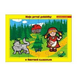 Puzzle deskové O Červené Karkulce 26x17cm