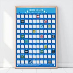 Stírací plakát - 100 ryb k chycení