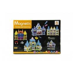 Magnetická stavebnice domeček 75ks v krabici 25x18x4cm