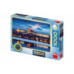Puzzle Pražský hrad svítící ve tmě 1000 dílků v krabici