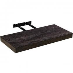Stilista nástěnná police Volato, 60 cm, tmavé dřevo