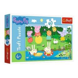 Puzzle Prasátko Peppa/Peppa Pig Prázdninová zábava 60 dílků