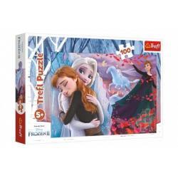 Puzzle Navždy spolu Ledové království II/Frozen II 100 dílků