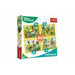 Puzzle 4v1 Rodina Treflíků v krabici 28 x 28 x 6 cm