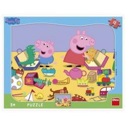 Puzzle deskové Peppa Pig si hraje 12 dílků 37 x 29 cm