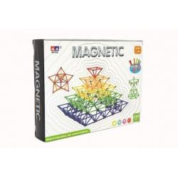 Magnetická stavebnice 250 ks plast/kov v krabici