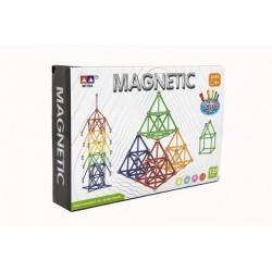 Magnetická stavebnice 120 ks plast/kov v krabici