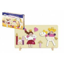 Magnetické puzzle Princezny v krabici 33 x 23 cm