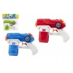 Vodní pistole plast 19 cm 3 barvy v sáčku