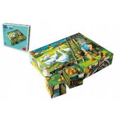 Kostky kubus Na statku dřevo 20 ks v krabičce 20 x 16 x 4 cm
