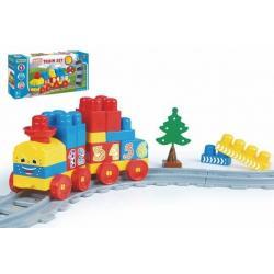 Baby Blocks vlak s kolejemi , stavebnicí a  doplňky