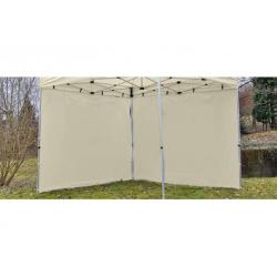 Sada 2 bočních stěn pro PROFI zahradní stan 3 x 3 m - champagne