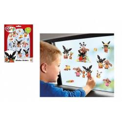 Okenní dekorace Bing Bunny 50 ks samolepek na kartě