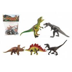 Dinosaurus plast 15 až 18 cm 5 ks v sáčku