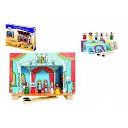 Divadlo Popelka magnetické dřevěné s figurkami v krabici