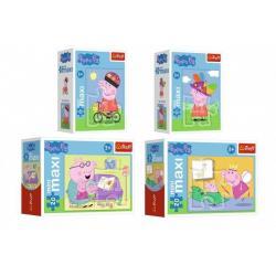 Minipuzzle miniMaxi 20 dílků Zábava s Peppou Pig 4 druhy