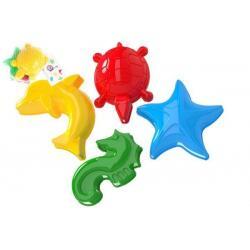 Formičky Bábovky na písek plast mořská zvířátka 2 barvy