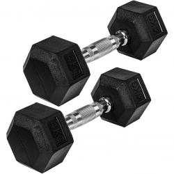MOVIT® Šestihranná gumová činka 4 kg sada 2 kusů