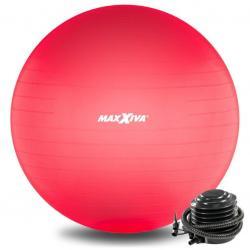 MAXXIVA Gymnastický míč Ø 65 cm s pumpičkou, červený