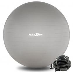 MAXXIVA Gymnastický míč Ø 75 cm s pumpičkou, stříbrný