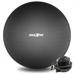 MAXXIVA Gymnastický míč Ø 75 cm s pumpičkou, černý