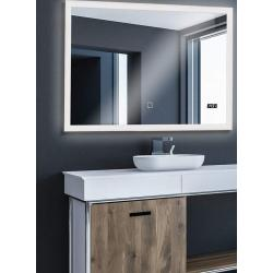 Aquamarin Koupelnové zrcadlo s LED osvětlením, 100 x 80 cm