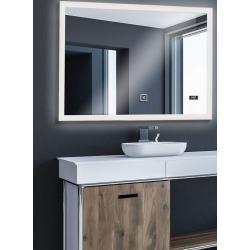 Aquamarin Koupelnové zrcadlo s LED osvětlením, 100 x 60 cm