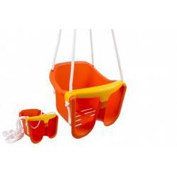 Plastová houpačka, oranžová, nosnost 25kg, 12m+