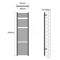 MOVIT sada 2 ks hřídelí k jednoručním činkám 2,25 kg