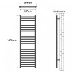 Gymnastická podložka Movit 183 x 60 x 1 cm - meruňková