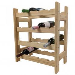 Dřevěný stojan na víno pro 16 lahví