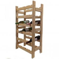 Dřevěný stojan na víno pro 24 lahví