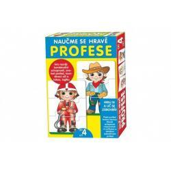 Puzzle deskové Naučme se hravě profese v krabici 20x28x4cm
