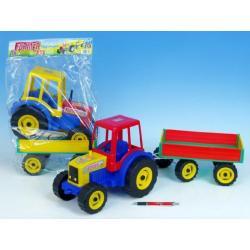 Traktor Farmer XXL s vlekem plast 69cm v sáčku