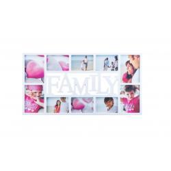 Fotorámeček Family na 10 fotografií, bílá, 70 x 32 cm