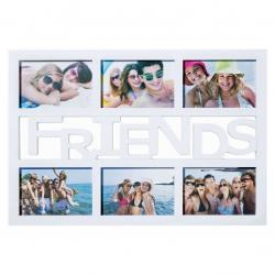Fotorámeček Friends na 6 fotografií, bílá, 50 x 33 cm