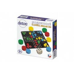 Člověče, nezlob se magnetické dřevo společenská hra v krabičce 20x20x4cm