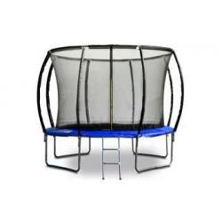 Trampolína G21 SpaceJump, 305 cm, modrá, s ochrannou sítí + schůdky zdarma